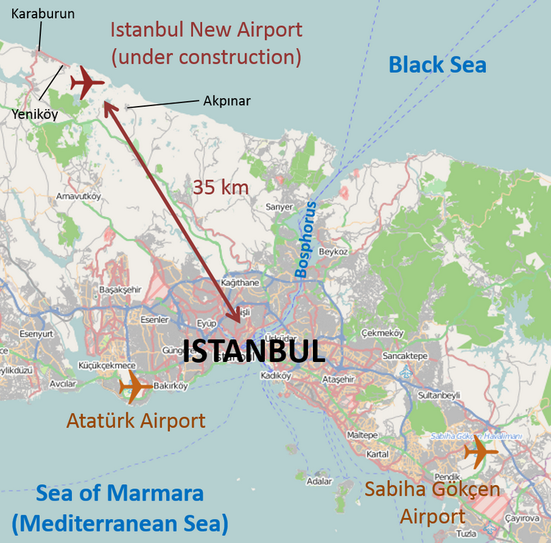 istanbul new airport map